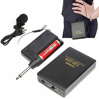 Wireless Mini Clip Lavalier Lapel Microphone Mic System FM Transmitter Receiver