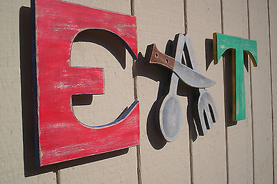 EAT Sign Letters for Moms Diner  Vintage Style Home or Restaurant decor..