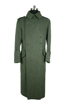 Wwii German Reproduction Of M40 Field-Grey  Greatcoat (Custom Made)-32597