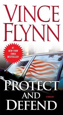 Lot of 2 :  PROTECT AND DEFEND Vince Flynn + THE LAST PATRIOT Brad Thor -Tall PB