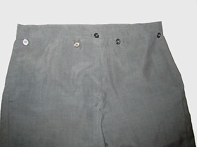 Mens Fall Front Trousers/1800sFall Front pants Dickens/Regency size W 33-L30