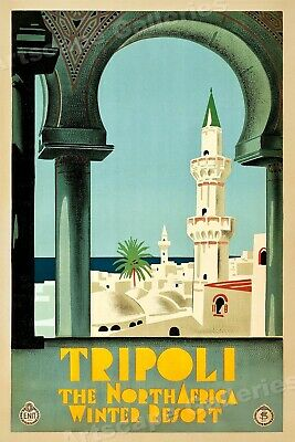 Congo African Jungle 1930s Vintage Style Travel Poster 20x30
