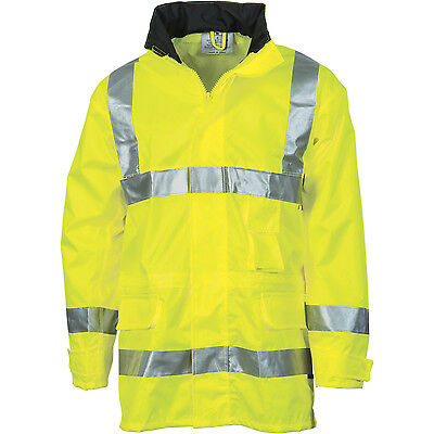 DNC 3871 - Hi Vis - Breathable Rain Jacket with Reflective Tape