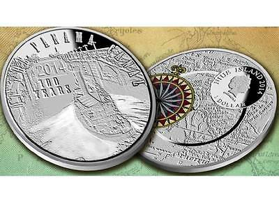 Niue 2014 $1 100th Anniversary of the Panama Canal .999 Proof Silver Coin