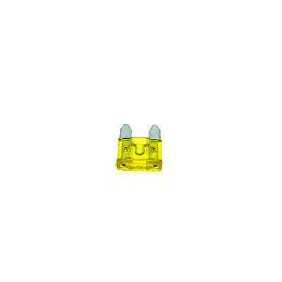 20A Yellow Car Auto Mini Blade Fuse 20 Amp ATM - Pack of 10