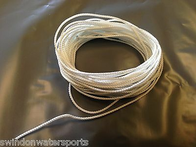 Polyester Picture Frame Hanging White Braided Cord String 2.2mm - 10 Meters