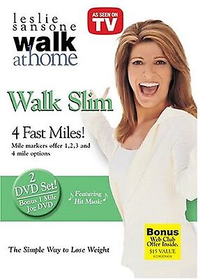 Leslie Sansone WALK SLIM - 4 FAST MILES (DVD) workout the pounds at Home NEW