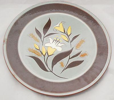 """STANGL POTTERY CHOP PLATE 14"""" Round Serving Platter GOLDEN HARVEST *as is*"""