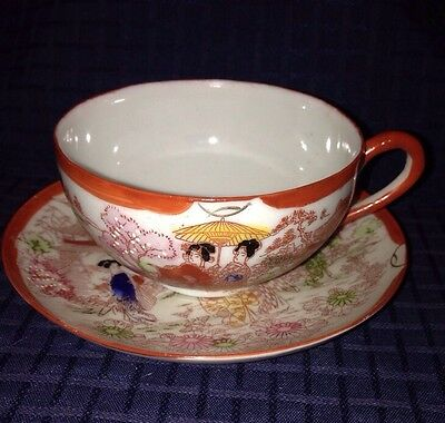 Made in Japan Geisha Cup and Saucer