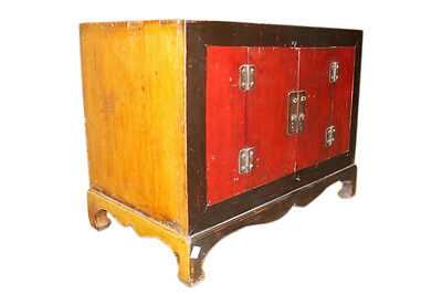 China 1910 antique small chest of drawers colonial Dark paint finish