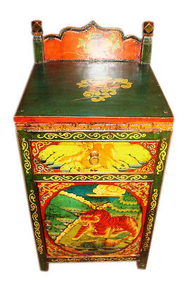 China around 1940 colorful small chest of drawers in the typical appearance