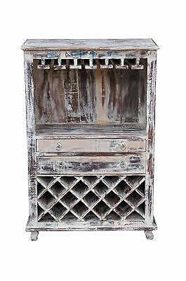 India medium unit cabinet white wine shelf with bottle holder
