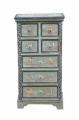 India drawer dresser mid high delicately painted blue