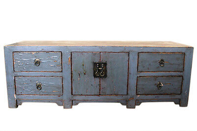China around 1930 lowboard dresser blue gray ideal for screen
