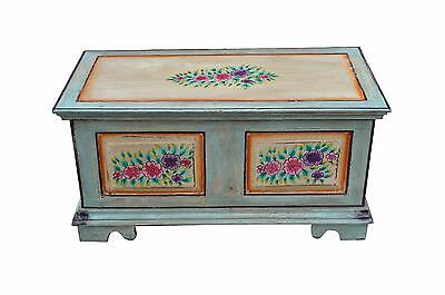 India pale blue to antique chest cassette box painting