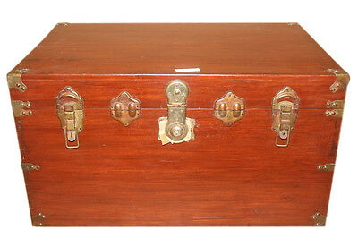 China 1940 wooden chest brass hardware no key