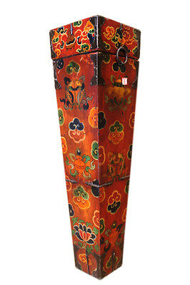 China Tibet ca 1930 painted quiver full of arrows for bow wood