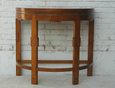 China Side Wall Table Half Round Light pine
