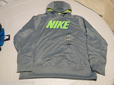 Boy's Nike Therma Fit S 618034 075 gray youth jacket pull over coat hoodie