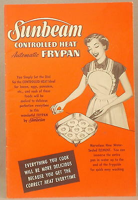VINTAGE SUNBEAM CONTROLLED HEAT AUTOMATIC FRYPAN COOKBOOK Cook Book