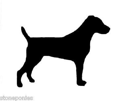 Jack Russell Terrier Parson Dog Profile Silhouette Window Decal Black Sticker