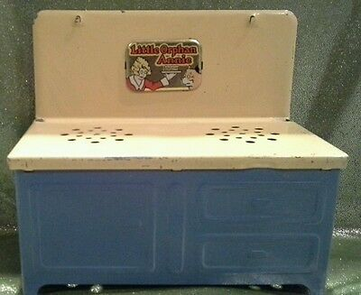Vintage Little Orphan Annie Metal Toy Stove Great Condition