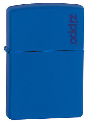 Zippo Windproof Royal Blue Matte Lighter With Logo, 229ZL, New In Box