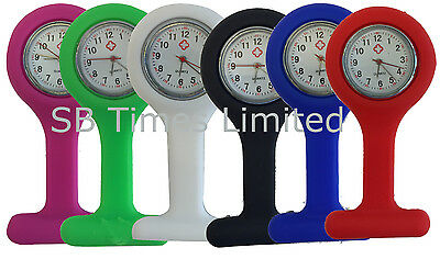 Brand New Colorful Silicon/Rubber Nurses Doctor Pocket Fob Watches