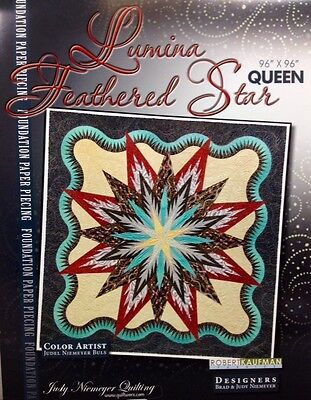 Judy Niemeyer LUMINA FEATHERED STAR QUEEN Foundation Paper Piecing Qlt Pattern