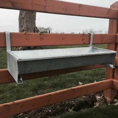 3 ' Foot Cattle Sheep Horse Gate Trough Hook Over Hang On Galv Feed Very Heavy