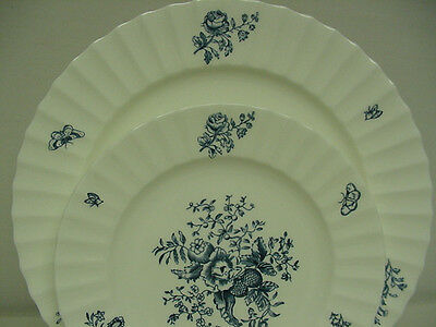 """Blue and White Dinner Service for 12 - Royal Worcester """"Blue Sprays"""""""