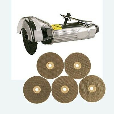 "3"" 75mm AIR CUT OFF BODYSHOP TOOL + 6 CUTTING GRINDING DISCS"