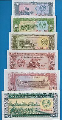 Laos SET-LA6, P-25,26,27,28,29,30,31,32,33 Uncirculated FREE SHIPPING