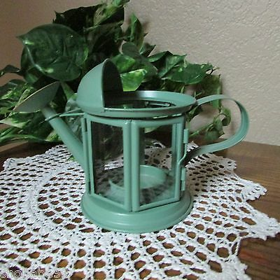 RARE MARJOLEIN BASTIN NATURE'S SKETCHBOOK METAL WATERING CAN CANDLE HOLDER