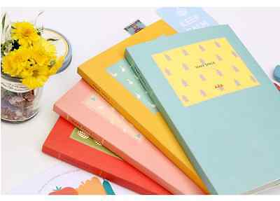KOREAN 2015 Journal Notebook Scheduler Pink Red Blue Colorful Undated