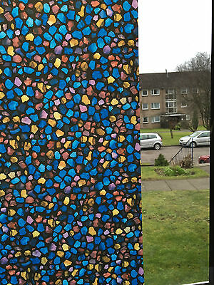PAINTED GLASS Window Film Stained Decorative Vinyl Privacy Static Decor Paper