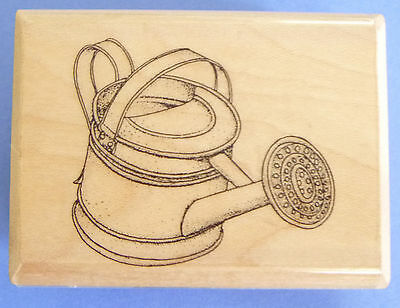 Water Can Small Rubber Stamp Mostly Animals