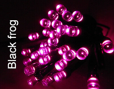 SOLAR CHRISTMAS FAIRY LIGHTS 60 HOT PINK LEDS. BETTER QUALITY THAN MOST.FL60P