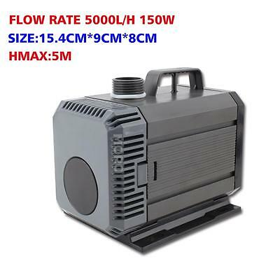5000L/H Submersible Water Pump Aquarium Fountain Pond Marine Fish Tank Air AU