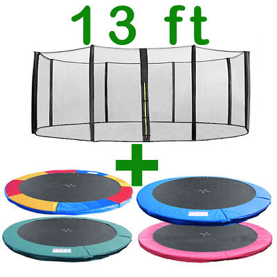 13Ft Trampoline Replacement Safety Net Padding Spring Cover Pad Enclosure