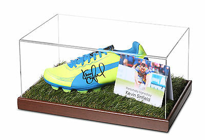 Kevin Sinfield Signed Rugby Boot Display Case Leeds Rugby Autograph Memorabilia