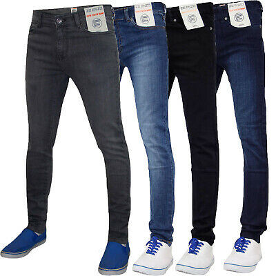 3fa20f7a5b8 Mens Designer Enzo Brand Skinny Denim Jeans Super Stretch Straight Trouser  Pants