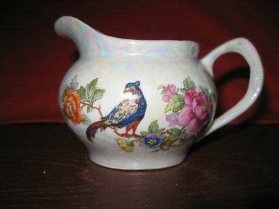 """Vintage China Creamer / Cream Pitcher Peacock - Germany - 2"""" high"""