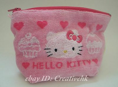 Japan Sanrio Original Hello Kitty Pink Pouch Bag with Zipper (NEW)