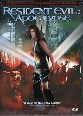 RESIDENT EVIL APOCALYPSE DVD 2004 MOVIE FULL SCREEN MILLA JOVOVICH  VIEWED ONCE