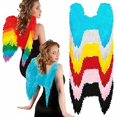 Angel Fairy Wings Fancy Dress Costume Hen Night Feather Outfit Adult Party Hen