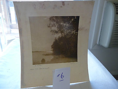 LOT#6 vtg antique REAL PHOTO picture By Cy SMITH   A COROT from THE CLARMONT  NH