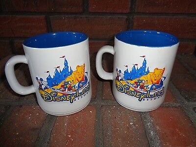 LOT OF 2 VINTAGE  Disneyland Resort Mug Cup Authentic Original Disney Parks