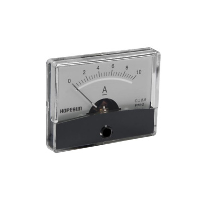 """VELLEMAN AIM6010A ANALOG CURRENT PANEL METER 10A DC / 2.4"""" x 1.9"""""""