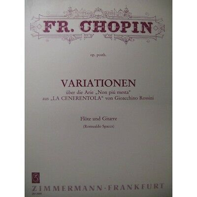 CHOPIN Frédéric Variations Flute Guitare 1988  Partition Sheet Music Spartiti Pa